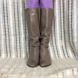 Creamy Light Brown Vintage Smooth 80's Calf Boots